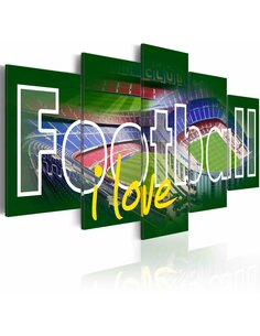 Tableau I LOVE FOOTBALL - par Artgeist