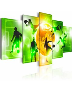 Tableau - 5 tableaux - I Love Soccer Personnages Artgeist
