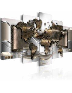 Tableau WORLD BREEZE - Cartes du monde par Artgeist