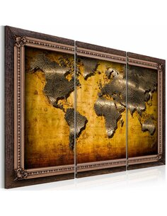 Tableau Triptyque - The World in a Frame Cartes du monde Artgeist