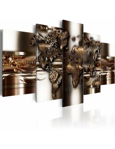 Tableau - 5 tableaux - Non nova, sed nove Cartes du monde Artgeist