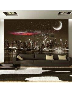 Papier Peint Starry Night Over Ny  New York Artgeist
