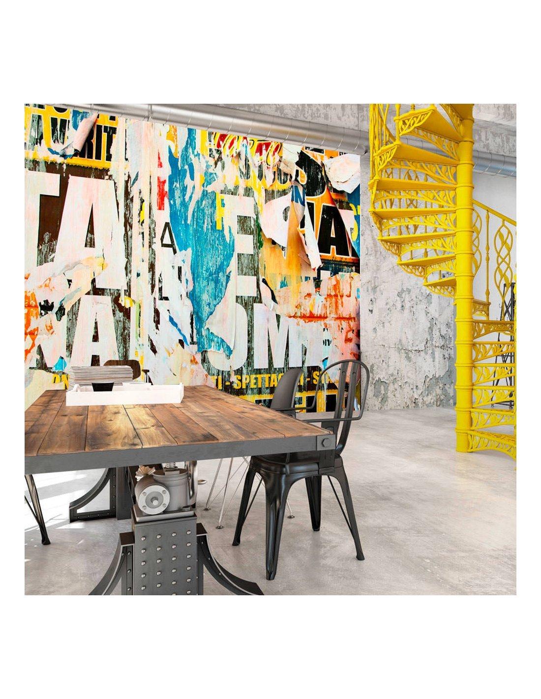 papier peint street poster 99 90 chez recollection. Black Bedroom Furniture Sets. Home Design Ideas
