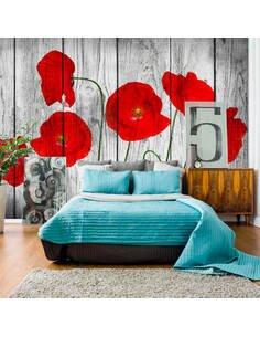 Papier peint TALE OF RED POPPIES - par Artgeist