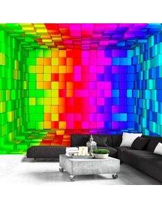 Papier peint RAINBOW CUBE - par Artgeist