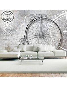 Papier peint VINTAGE BICYCLES EN N&B - par Artgeist
