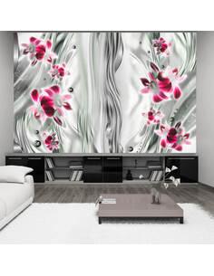 Papier peint PINK ORCHID IN PLATINUM - par Artgeist