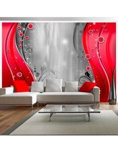 Papier peint BEHIND THE CURTAIN OF RED - par Artgeist