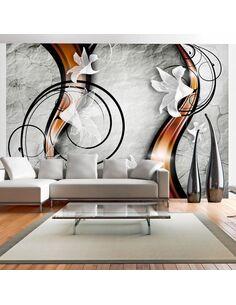 Papier peint LILY ON A STONE - Motifs floraux par Artgeist