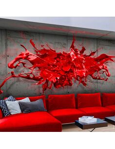Papier peint RED INK BLOT - par Artgeist
