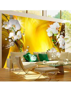 Papier peint ORCHID IN GOLD - par Artgeist