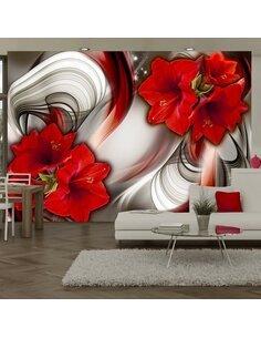Papier peint AMARYLLIS BALLAD OF THE RED - par Artgeist