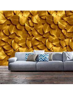 Papier peint GOLDEN LEAVES - par Artgeist
