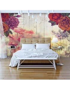 Papier peint VINTAGE FLOWERS - par Artgeist