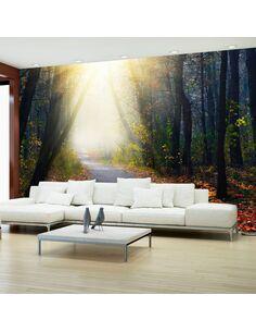 Papier peint ROAD THROUGH THE FOREST - par Artgeist