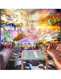 Papier peint COLORSOF NYC - par Artgeist