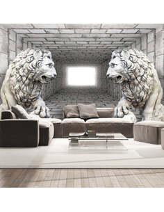 Papier peint LIONS DE PIERRE - par Artgeist