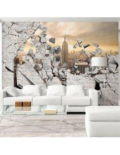 Papier peint NY CITY BEHIND THE WALL - par Artgeist