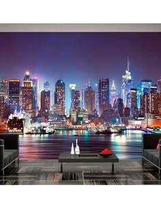 Papier peint NIGHT IN NEW YORK CITY - par Artgeist