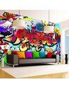 Papier peint STREET ART:RED THEME - par Artgeist