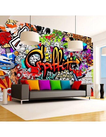 Papier peint COLORFUL GRAFFITI - par Artgeist