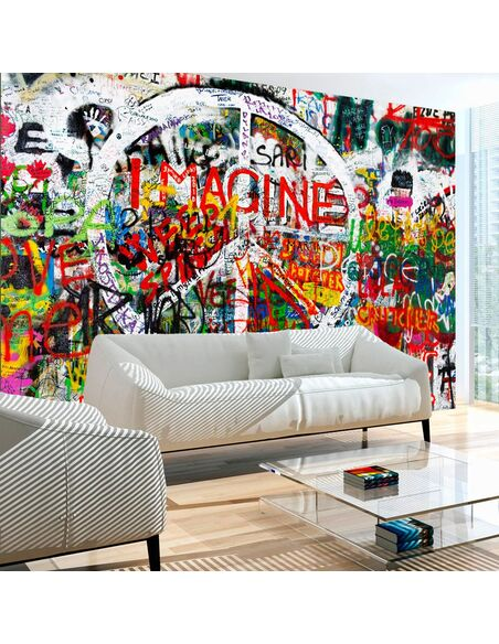 Papier peint HIPPIE GRAFFITI - par Artgeist