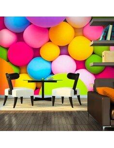 Papier peint COLOURFUL BALLS - par Artgeist