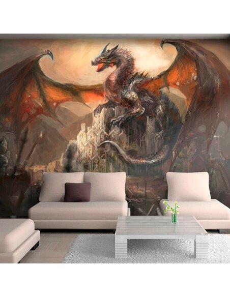 Papier peint DRAGON CASTLE - par Artgeist