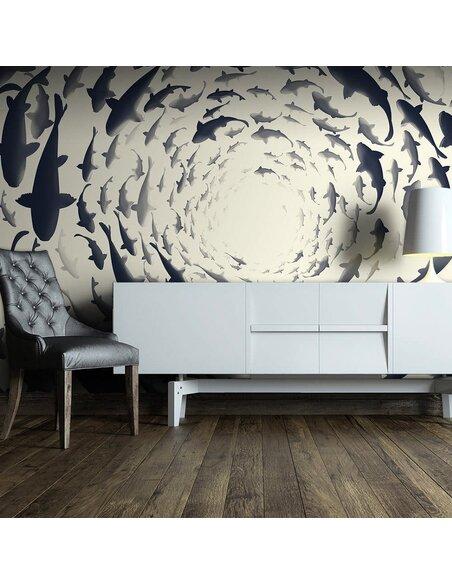 Papier peint FISH SWIRL - par Artgeist