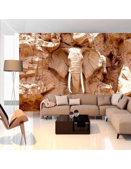 Papier peint STONE ELEPHANT AFRIQUE DU SUD - par Artgeist
