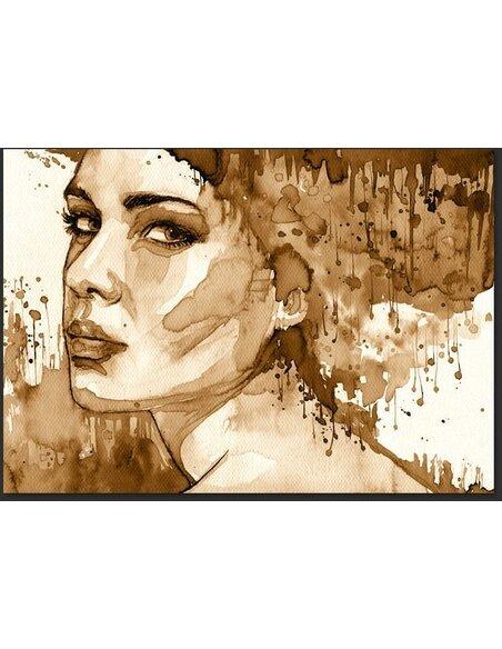 Papier peint FEMALE PORTRAIT SEPIA - par Artgeist