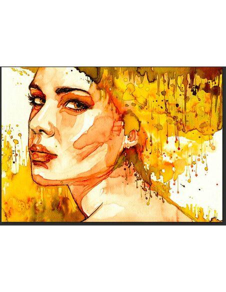 Papier peint AMBER LADY - par Artgeist