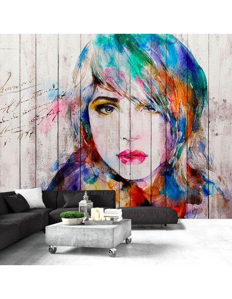 Papier peint WOODEN PORTRAIT - par Artgeist