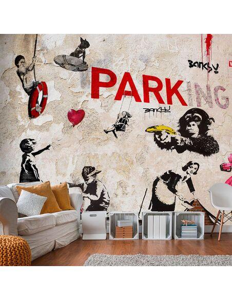 Papier peint [BANKSY] GRAFFITI COLLAGE - par Artgeist
