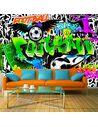 Papier peint FOOTBALL GRAFFITI - par Artgeist