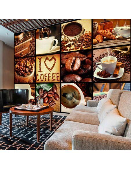 Papier peint COFFEE COLLAGE - par Artgeist