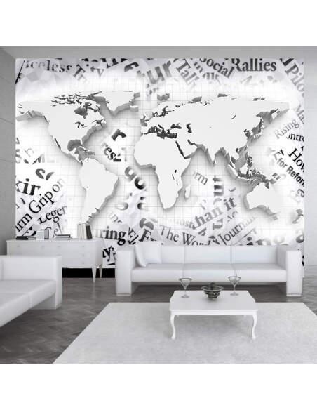 Papier peint THE WORLD OF NEWSPAPERS - par Artgeist