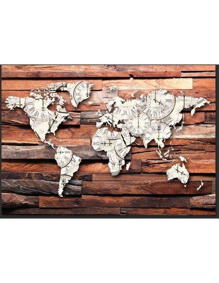 Papier peint MAP ON WOOD - par Artgeist