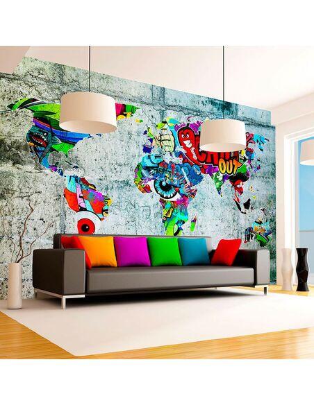 Papier peint MAP GRAFFITI - par Artgeist