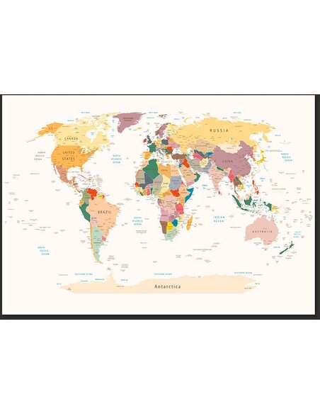 Papier peint WORLD MAP - par Artgeist