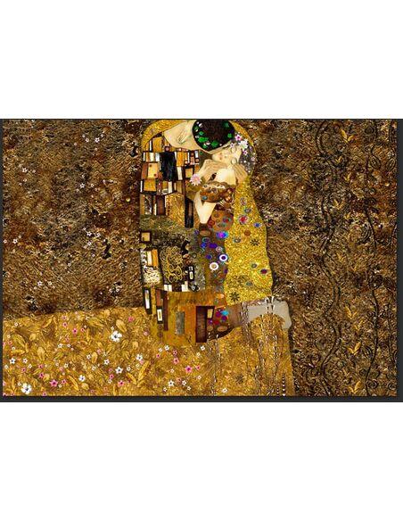 Papier peint KLIMT INSPIRATION GOLDEN KISS - par Artgeist