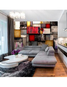 Papier peint COLORFUL HOME - par Artgeist
