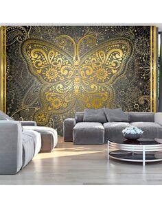 Papier peint GOLDEN BUTTERFLY - par Artgeist