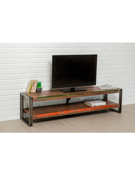 Meuble TV LOFT XL Teck recyclé - par Delorm