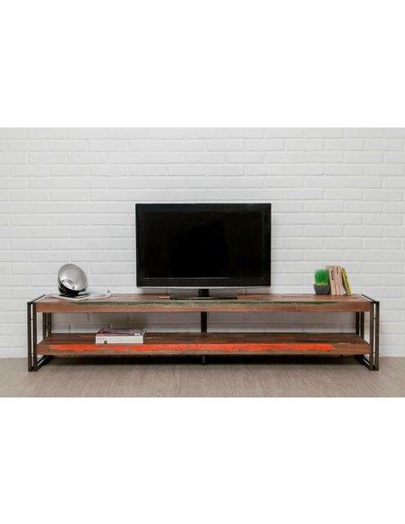 Meuble TV LOFT XXL Teck recyclé - par Delorm