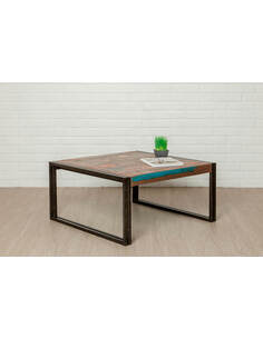 Table basse LOFT Teck recyclé - par Delorm
