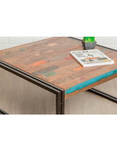 Table basse LOFT Teck recyclé - par Delorm