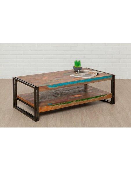 Table basse rectangulaire LOFT XL Teck recyclé - par Delorm