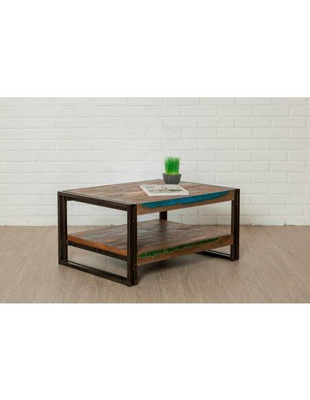 Table basse rectangulaire LOFT L Teck recyclé - par Delorm
