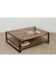 Table basse rectangulaire LOFT XXL Teck recyclé - par Delorm